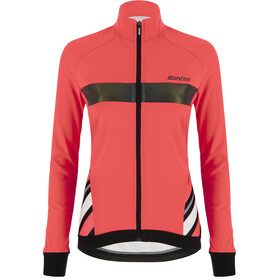 Santini Coral Raggio Winter Jacket Women grenadine/fluo coral
